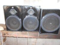 Three speakers. Reduced