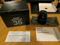 Fuji lens Fujinon XF 35mm f2 WR