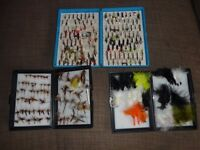 THREE BOXES TROUT FLY FISHING FLIES
