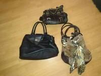 3 handbags all a fiver