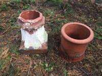 Chimneys pots and two sinks