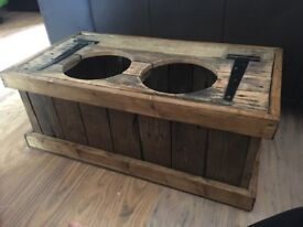Hand crafted Dog Feeder and toy box