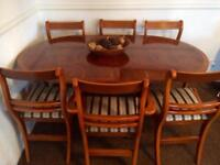 Yew Table & chairs **SOLD**