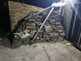 Hardcore , rubble , bricks , chippings, back fill