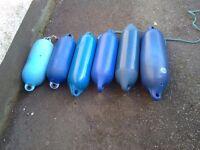 6 boat fenders