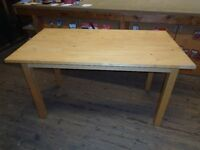 Solid pine dining table nice size