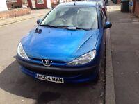 PEUGEOT 206 BLUE 5 DOOR 2004 LAADY OWNER CAR