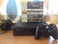 Xbox 360, One wireless controller, 12 games, All leads and in Very good condition.