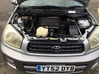 2002 Toyota RAV4 2.0 D-4D GX 5dr HPI Clear, ONE OWNER FROM 2009 MOT History @07445775115@