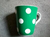 Green dotty Cath Kidston Mug