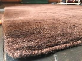 Brown 100% Wool John Lewis Rug.