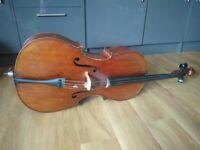 German Cello (1890) + 2 bows + carbon fibre case
