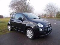 2013 62 FIAT 500 POP 1.2 3 DOOR MET BLACK 19000 MILES FSH