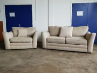 ASHLEY MANOR UPHOLSTERY DESIGNER LOUNGE SUITE 3 SEATER SOFA & SNUGGLER SETTEE / CHAIR CAN DELIVER
