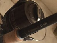 Watchwoood c101 carp rod and wychwood riot 65 big pit reel