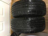 Two Firestone tyres