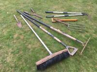 Old garden tools.