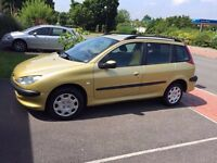 Peugeot 206 Estate 12months mot service history cheap on fuel tax tidy big boot £695ono