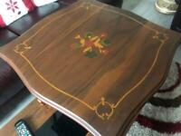 Italian side lamp table