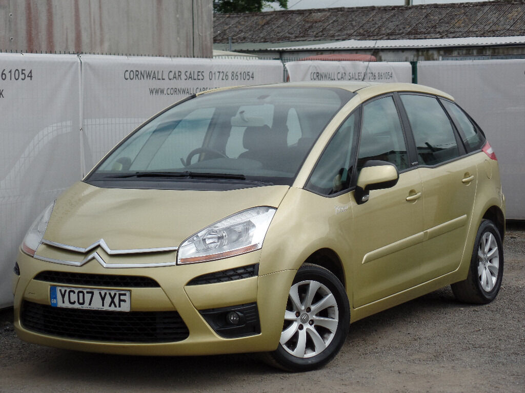 2007 citroen c4 picasso 1 6 hdi vtr egs 5dr gold in newquay cornwall gumtree. Black Bedroom Furniture Sets. Home Design Ideas