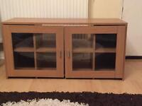 Oak effect tv unit/media stand