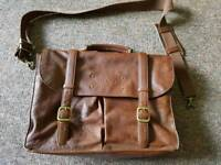 Mens Ted Baker leather satchel / bag