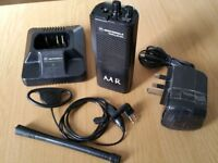 Motorola GP300 Radio Used with Charger and Earpiece - Used