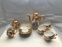 Vintage 1920's Fine China Porcelain Gold Tea/Coffee Set Bondware