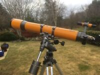 Konusuper 120 refracting telescope with accessories including Barlow lens
