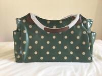 Green polka dot Kath kidston style bag