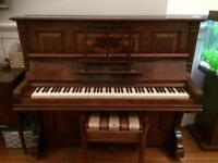 Upright piano & stool - FREE!!