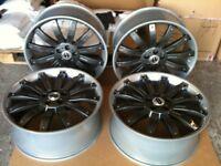 4 X Range Rover sport 22 inch Alloy overfinch wheels VW T5 REFURBISHED