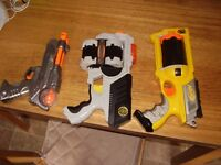 NERF GUNS AND LAZER GUN ALL FULLY WORKING WITH NERF BULLITS
