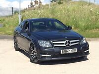 2012 62reg Mercedes-Benz C Class 2.1 C220 CDI BlueEFFICIENCY AMG Sport Plus 7G-Tronic Plus 2dr coupe