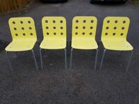 4 Ikea Jules Stacking Office / Kitchen Chairs FREE DELIVERY 233