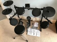 Alesis dm6 electronic drum kit with stool