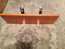 Wooden Shelf with metal brackets No screws with it!! Very solid item