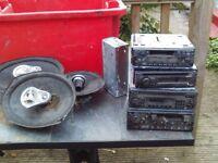 Vintage / old car radios + speakers
