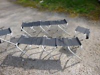Collapsible bench for camping