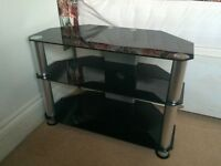 32 inch Black Glass Stand