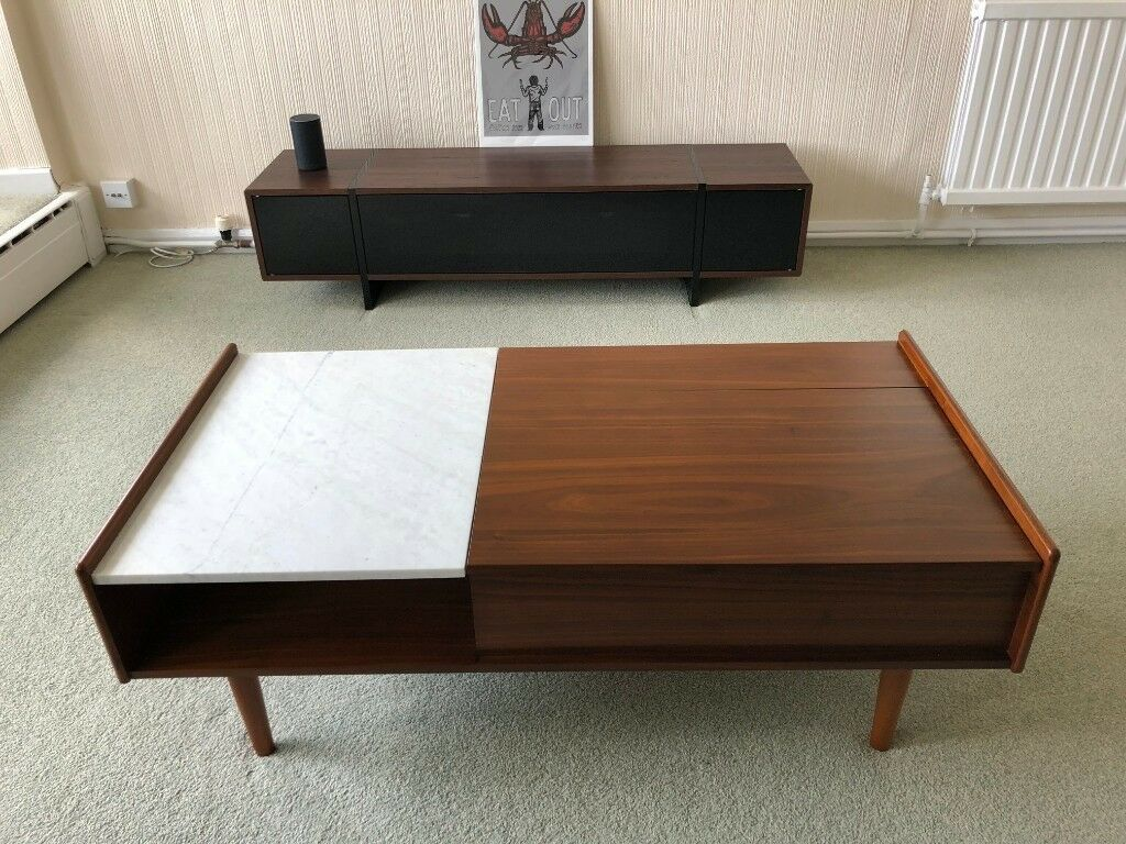 West Elm Mid Century Pop Up Storage Coffee Table In Bournemouth