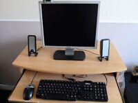 DELL MONITOR, KETBOARD,MOUSE AND SPEAKERS