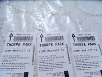 6 thorpe park tickets available for £90 , £15 each ,valid until 9/10/2016