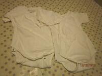 Frugi Organic cotton wrapover bodysuit 18-24 months, vguc (x2), unbleached