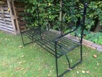 Wrought Iron Patio Bench Garden Metal Bench