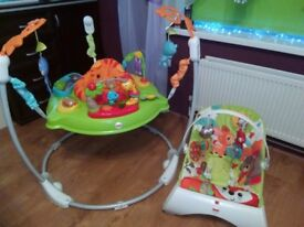 Jumperoo and Bouncer Fisher Price