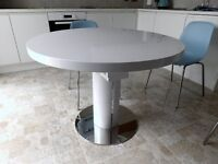 Modern Dining Table Whitegloss Round/oval Table