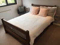 Beautiful WARREN EVANS double bed with storage (solid timber) & mattress - excellent condition