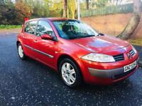 CHILLY RED RENAULT MEGANE 1.4 PETROL. ELECTRIC WINDOWS. ELECTRIC MIRRORS