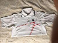 Yonex 12100EX Mens Polo Shirt (White) Small